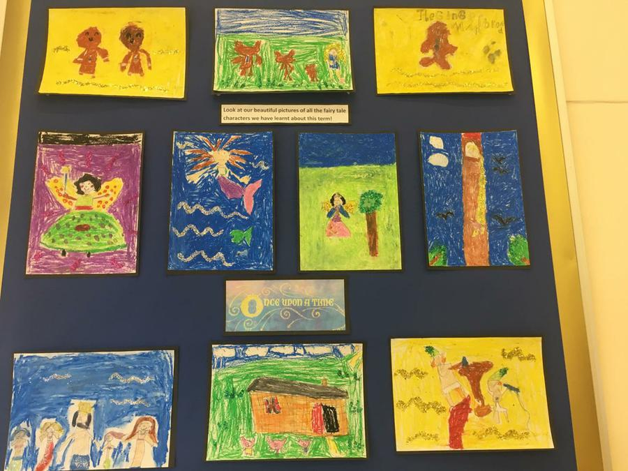 Art inspired by stories Year Two