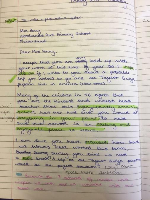 Persuasive Writing Year Six