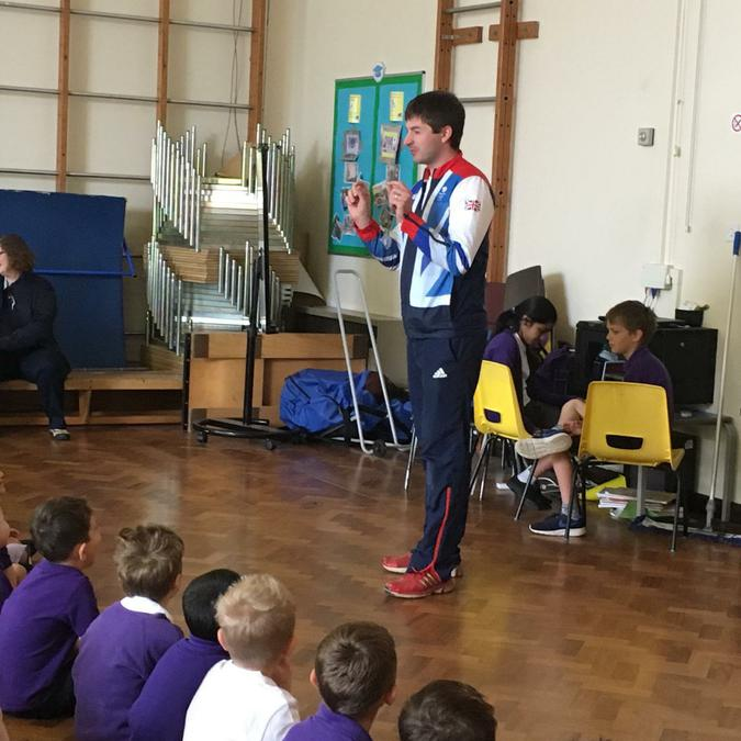 Inspirational Visit by Zak Purchase Olympian Rower