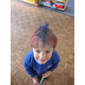 Red & Blue Hair Day