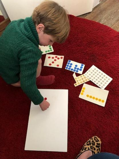 Using stickers to improve fine motor skills