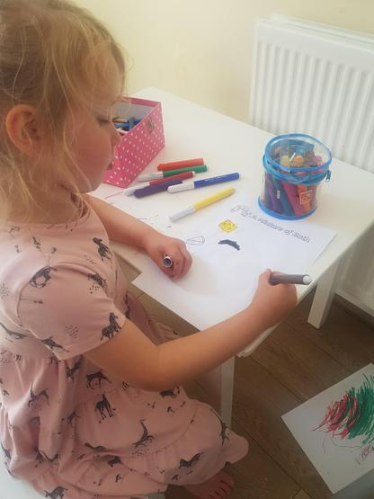 Super colouring skills Georgie