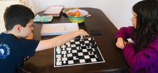 Concentrating on the next move!