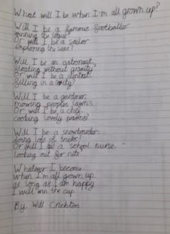 Poem - What I want to be ...