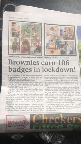 Ayla's Brownies made the local paper