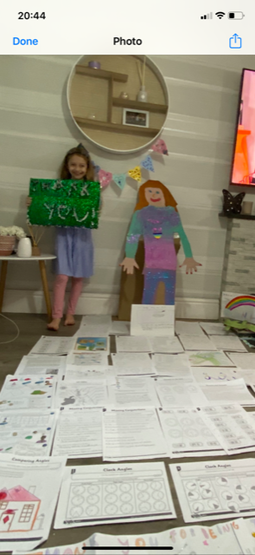 Lily's excellent home learning