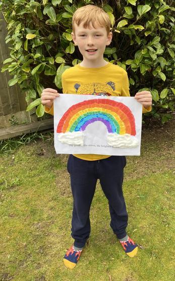 Creating a Rainbow window art