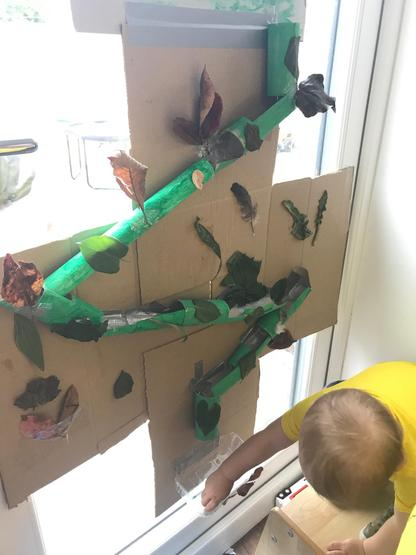 A home-made marble run