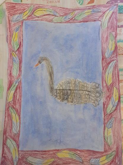 Eva's beautiful art work inspired by Ken Done
