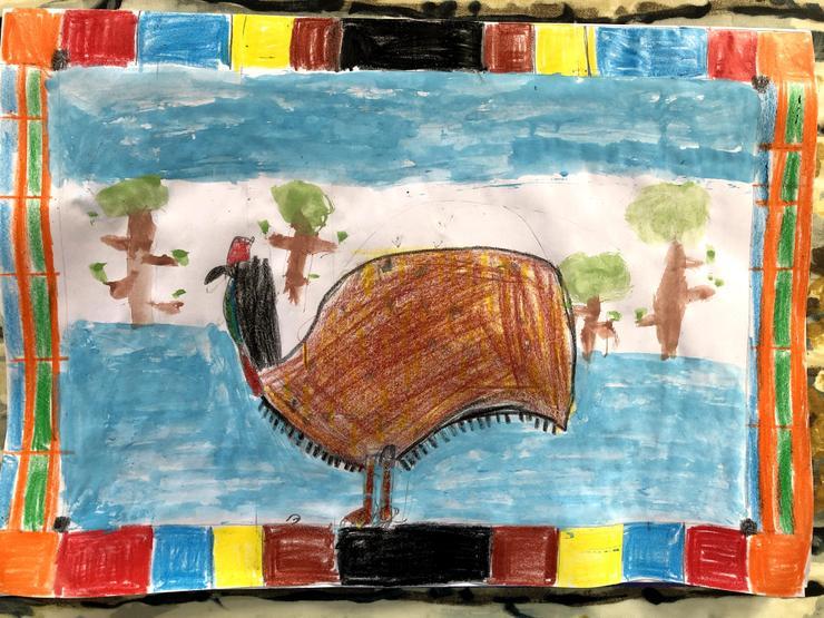 Joseph's Australian emu masterpiece