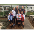 Kate, some very lucky pupils & Marc & Josh