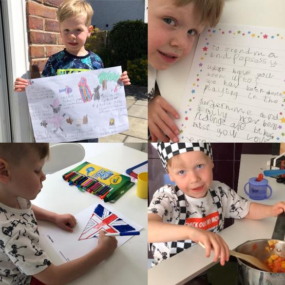 Cooking, bunting making and an important letter!