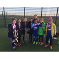 Woodlands 5-a-side team with Simone Magill