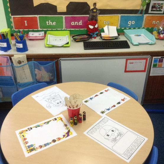 Blue Class writing area