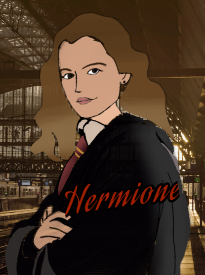 Hannah used the Ibis Paint app to create Hermione.