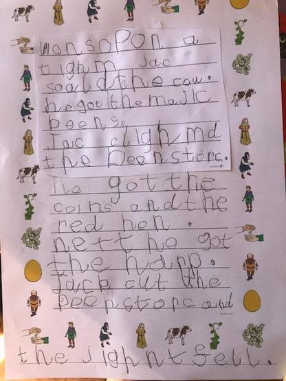 Jack and the Beanstalk - super writing