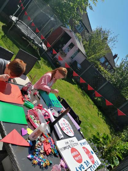 Preparing for a VE day street party and a birthday