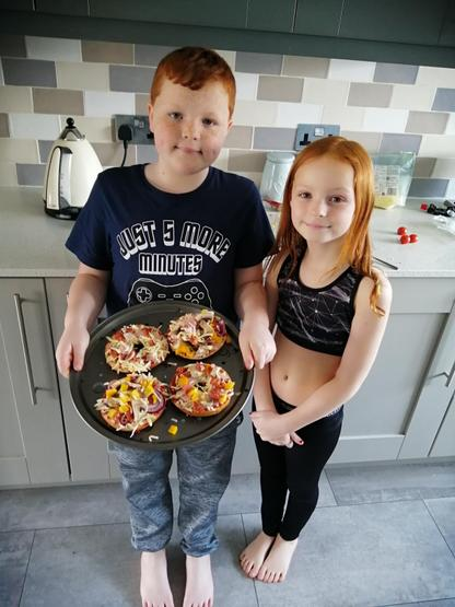 Home-made pizzas - tasty!