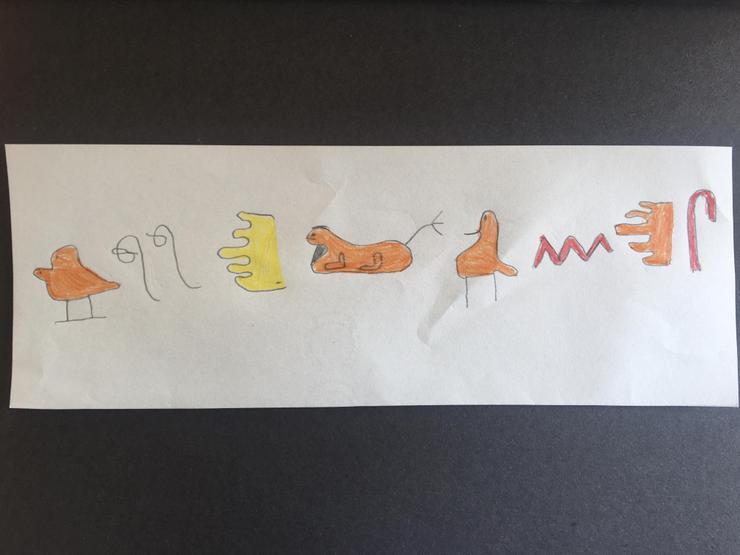 Thomas wrote Woodlands in hieroglyphics.