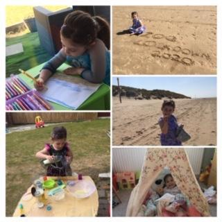 Beach fun, making potions and tent time!