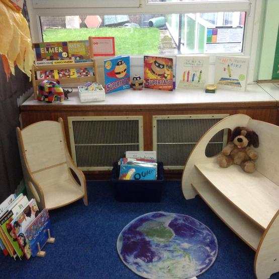 Blue Class reading area