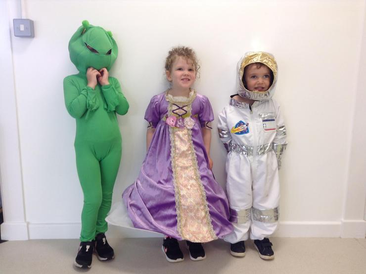 Alien, A Princess, Astronaut