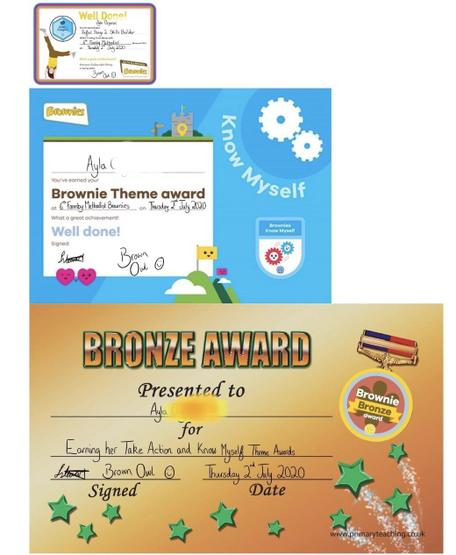 Ayla's certificates! Well done!