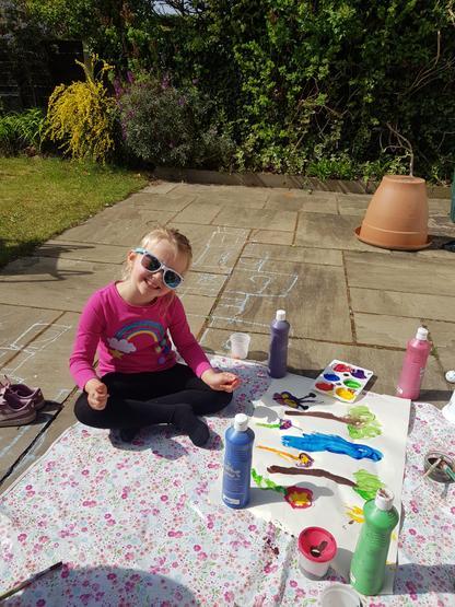 Painting fun in the sun!