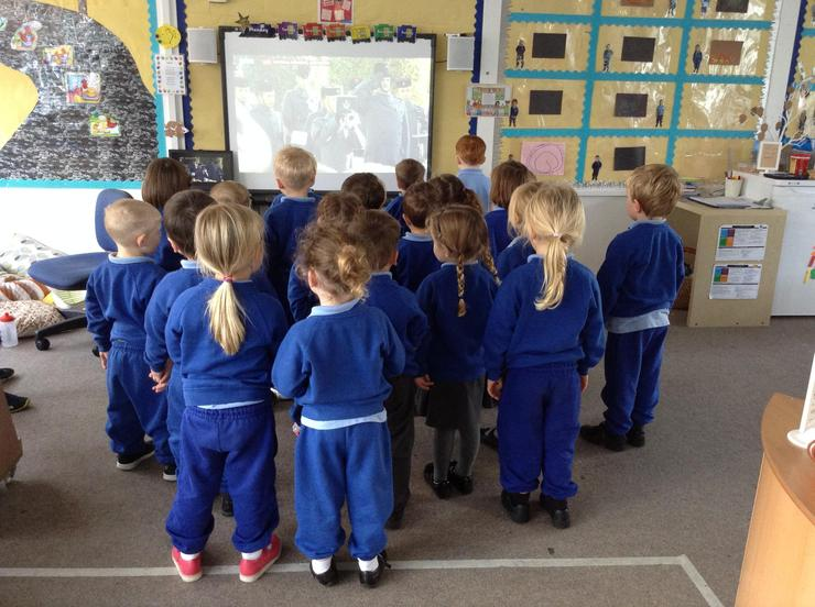 We observed the two minute silence at 11.00 am