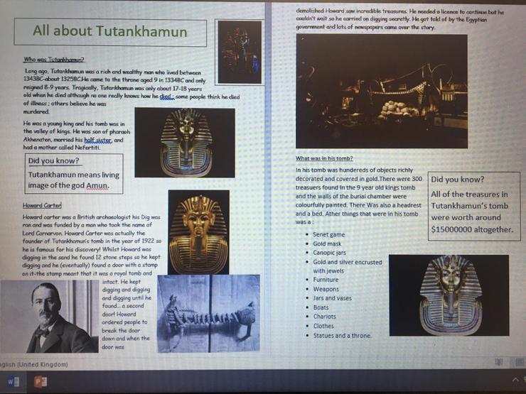 All about Tutankhamun