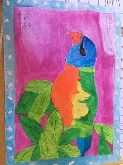 Ken Done inspired art work - Amazing!