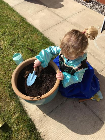 Planting in the garden.  I wonder what it will be?
