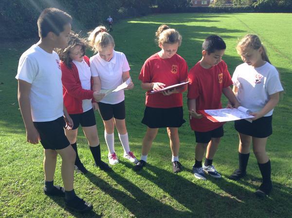 PE - Orienteering on the school field