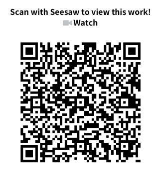 Take a look on seesaw using this QR code