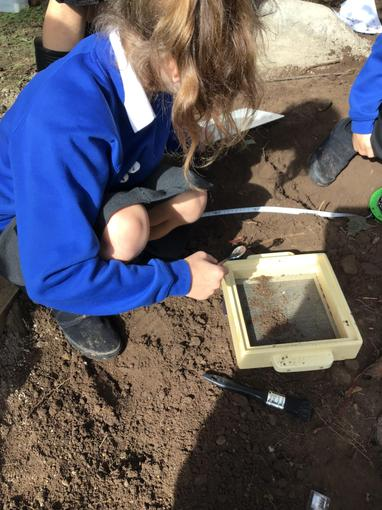 Measuring and mapping the location of our finds.