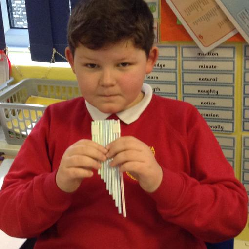 After all that measuring- pan pipes!