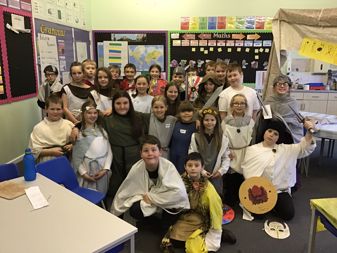 We have had an amazing Anglo-Saxon day! Uh oh...