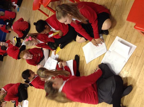 Sharing Literacy work with Y5