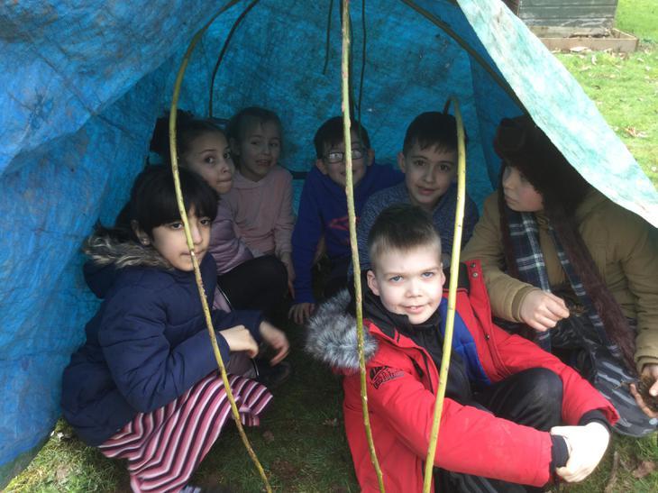 Shelters were basic.