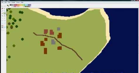 Draw a map on your computer.