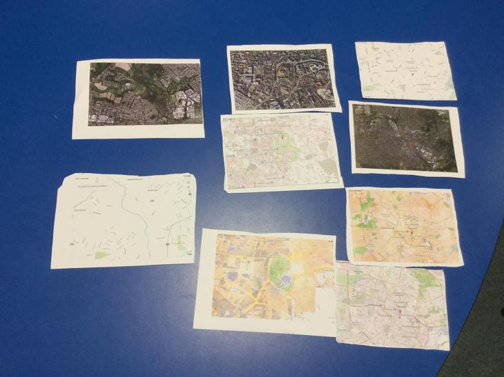 Matching maps and aerial photos of Birdlip
