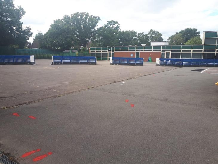 Each Year 2 bubble will have half of the playground to play in and do PE in.