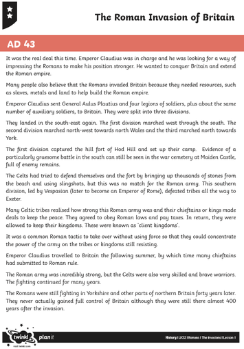 The Roman Invasion of Britain text - page 2
