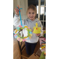 Emily made chicks for a care home, during Easter