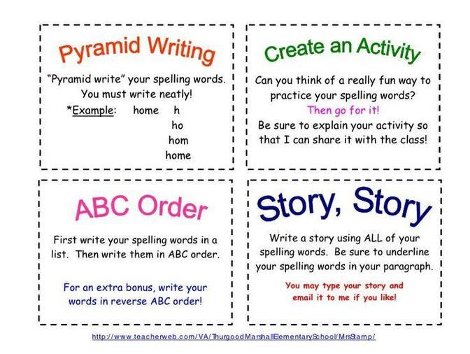 Spelling practise games