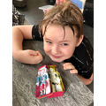 Euan's Egyptian mummy! What a great idea :)