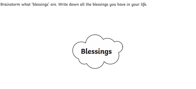 Blessings activity
