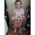 Savanna made some delicious buns for VE day