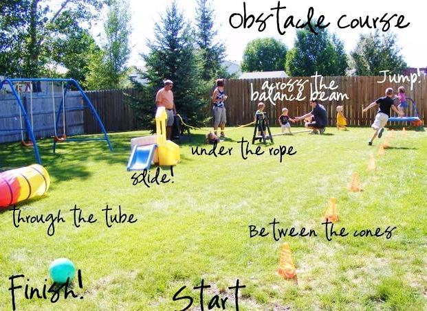 Create a garden obstacle course