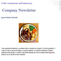 IRZ has created his own restaurant newsletter!